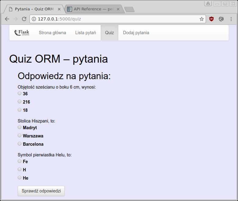7 3  Quiz ORM — Python 101 0 5 - dokumentacja